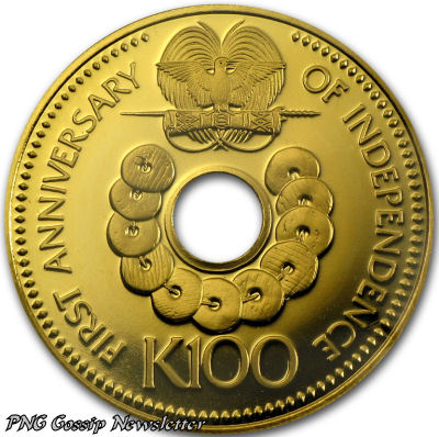 PNG Gold K100 Coin